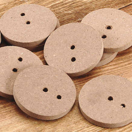 2 Hole Wooden Cam Wheels 5mm Hole 30pk  large