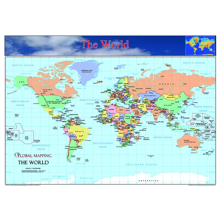 Buy World Europe and UK Maps Set A3 TTS