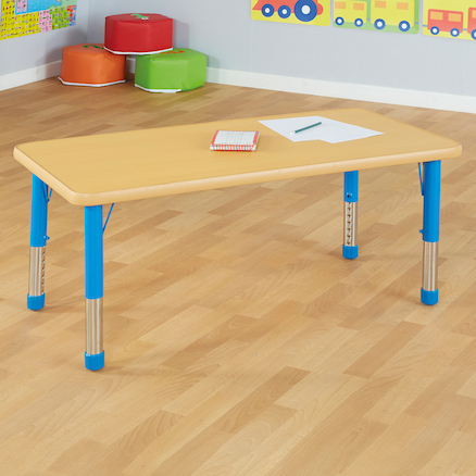 Copenhagen Rectangular Six Seater Classroom Table  large