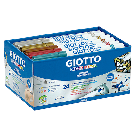 Giotto Assorted Metallic Water Based Markers 24pk  large
