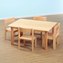 Solid Beech Rectangular Table and Chairs Offer  medium