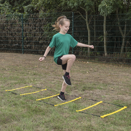 2 in 1 Agility Ladder and Hurdle  large