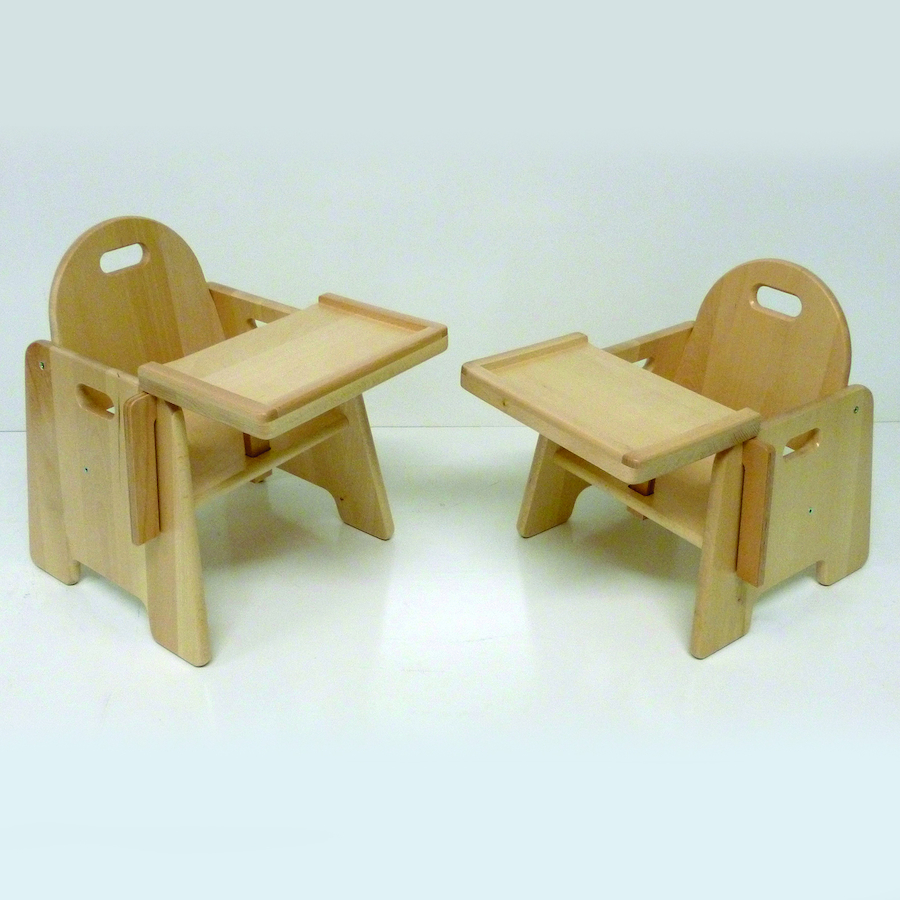 ... Infant Wooden Feeding Chair With Tray Small