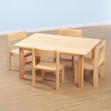 Solid Beech Rectangular Tables L96cm  large