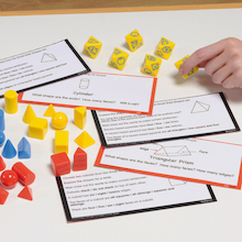 3D Shapes and Workcard Pack  medium