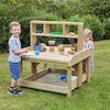 Outdoor Wooden Work Bench and Storage  small