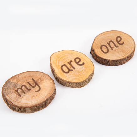 Wooden High Frequency Word Pieces  large