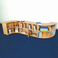 Straight bookcase shelving unit  medium