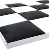 Black and White Checked Vinyl Mat  small