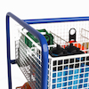 Wire Basket Equipment Trolley L75 x H105 x W59cm  small
