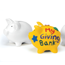 Decorate Your Own Porcelain Piggy Bank 12pk  medium