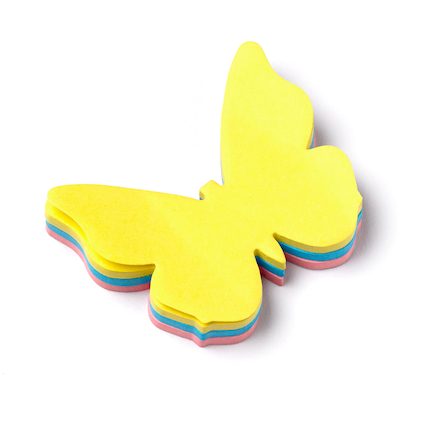 Assorted 3D Butterfly Sticky Note Pad  large