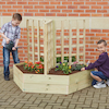 Wooden Planters with Trellis  small