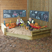 Giant Outdoor Wooden Corner Sandpit  medium