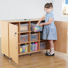 Lockable Mobile Cupboard  medium