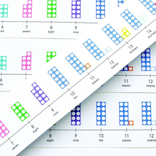 Numicon Table-Top Number Lines 5pk  medium