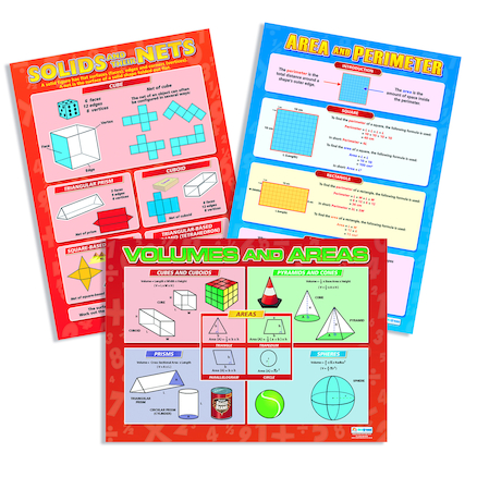 Properties Of Shapes Posters 3pk  large