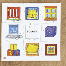 Wooden Shape Recognition Jigsaw Puzzle 4pk  medium