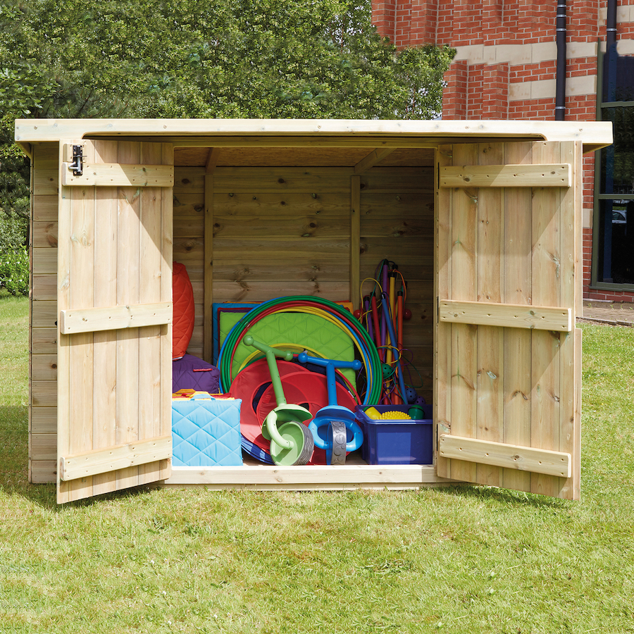 Buy large lockable wooden outdoor storage shed tts for Garden shed large