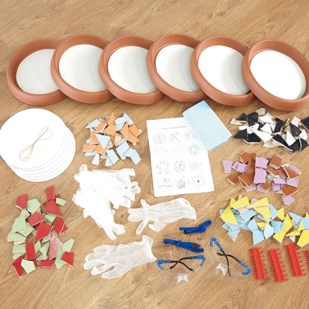 Make Your Own Stepping Stones Mosaics 6pk  large