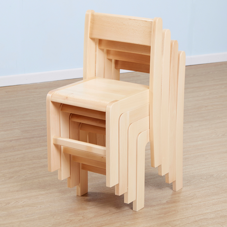 ... Classic Beech Stackable Chairs 4pk Small ...