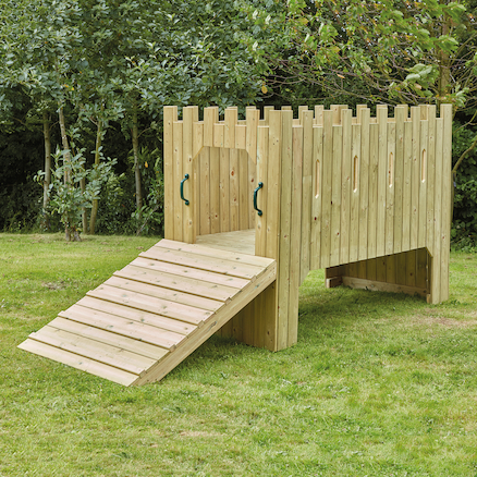 Outdoor Wooden Play Castle with Standard Delivery  large