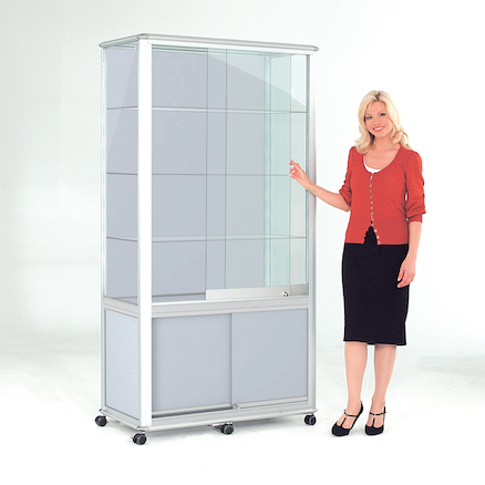 Glass Tower Display Cases  large