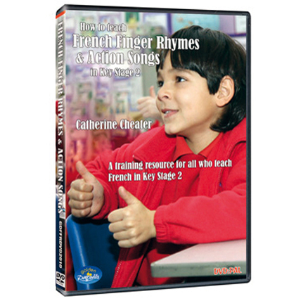 Catherine Cheater French Finger Rhymes DVD  large