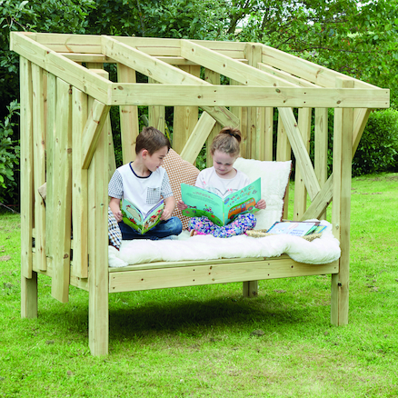 Outdoor Wooden Reading Bench  large