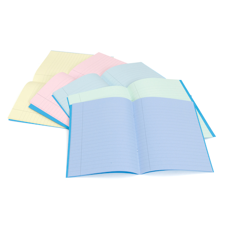 Tinted Lined Exercise Books 10pk  large