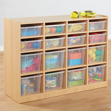 Open Storage Unit with 16 Compartments  large