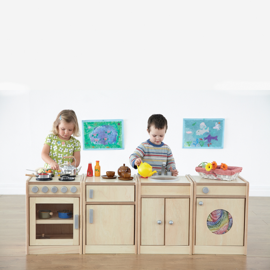 Role play wooden kitchen unit collection small