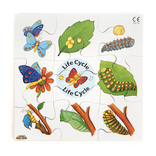 Frog, Duck, Butterfly and Tree Life Cycle Jigsaws  medium