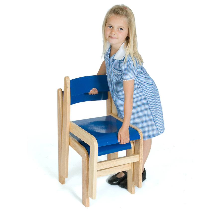 Tuf Class Wooden Stackable Chairs 2pk