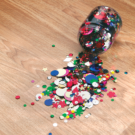 Tub of Sequins 100g  large