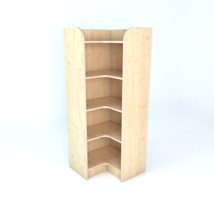 Internal Corner Library Bookcase In Maple  large