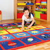 Alphabet Square Carpet L200 x W200cm  small