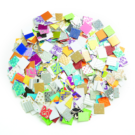 Jumbo Textured Paper Mosaics Assorted 2000pk  large
