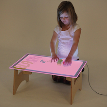 Low Level Fold Up A2 Light Panel Table Mains  medium