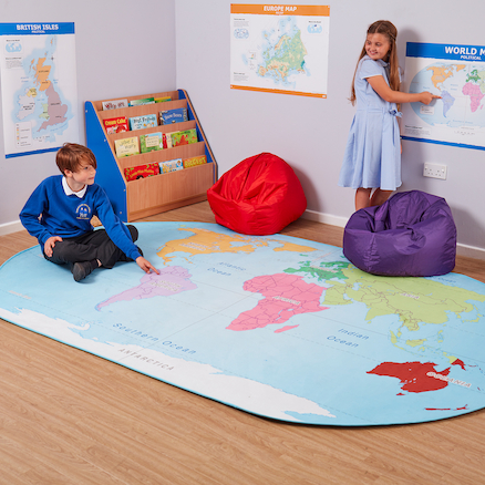 Map of the World Rug  large