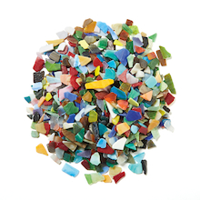 Tumbled Glass Mosaics Assorted 2kg  medium