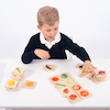 Wooden Fruit and Vegetable Matching Game  small