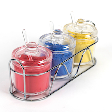 Clear Acrylic Jar Set 3pcs  medium