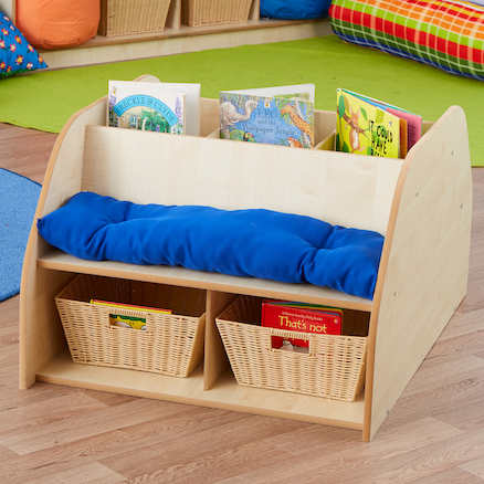 Story Seat with Book Storage  large