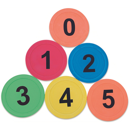 Rubber Number Spots 6pk  large