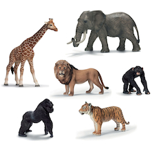 Small World Schleich Jungle Animal Set 6pcs  medium
