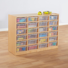 Open Storage Unit with 24 Small Compartments  medium