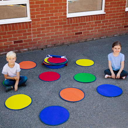 Weatherproof Outdoor Circle Mats 10pk  large