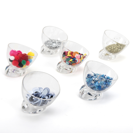 Easy Reach Sorting Sweetie Jar Set Clear 6pcs  large