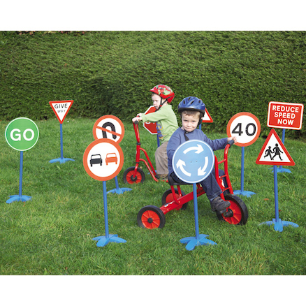 Outdoor Traffic Signs Set 10pk  large